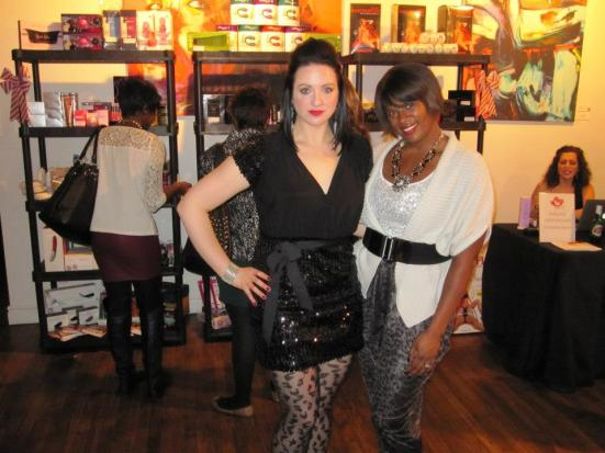 Katrina, CEO of Ohhh Canada with Tamika of Shop Socials at their holiday event.