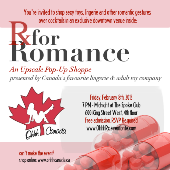 See you on February 8th at Rx for Romance!